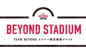 BEYOND STADIUM 観戦者 大募集!の画像