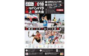 2018 ジャパンパラ陸上競技大会の画像