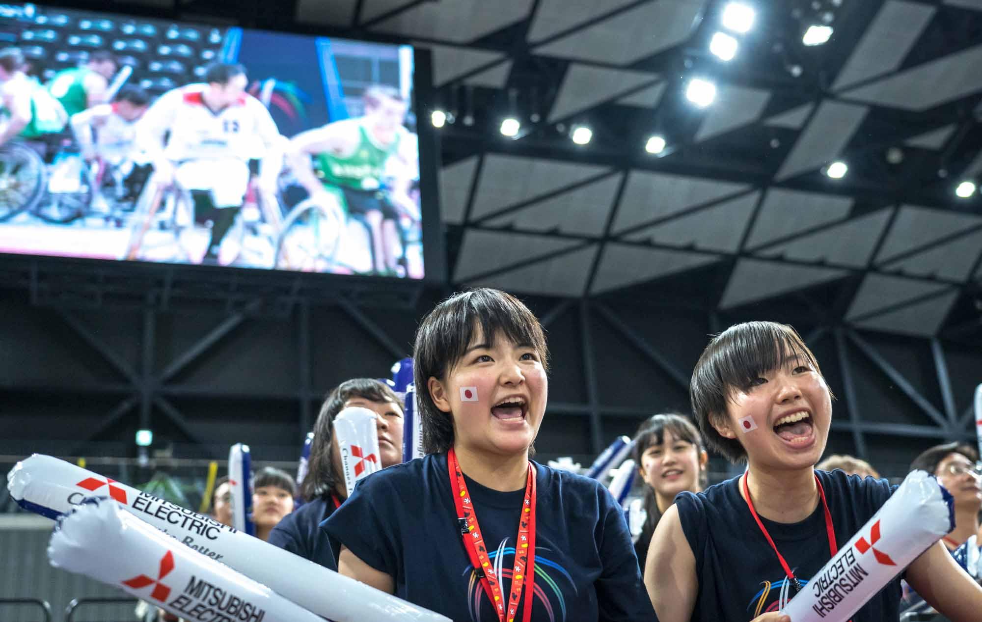 「レッツゴー日本!」の大声援が鳴り響く。「三菱電機 WORLD CHALLENGE CUP 2018」決勝戦