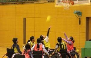 チャレンジ!車椅子バスケットボールの画像