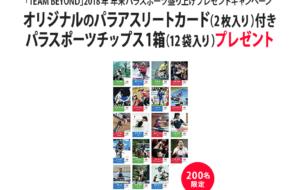 「TEAM BEYOND」2018年年末パラスポーツ盛り上げプレゼントキャンペーンの画像