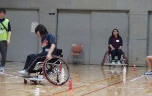 ユニバーサルスポーツ体験教室(7月) ~車いすスラローム~の画像