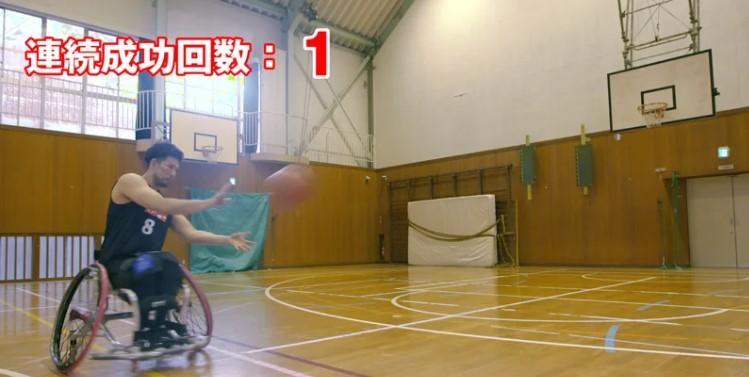 車いすバスケットボールのスゴ技!三連続スリーポイントシュート!(メイキング映像)【閲覧スタンプ非対応】