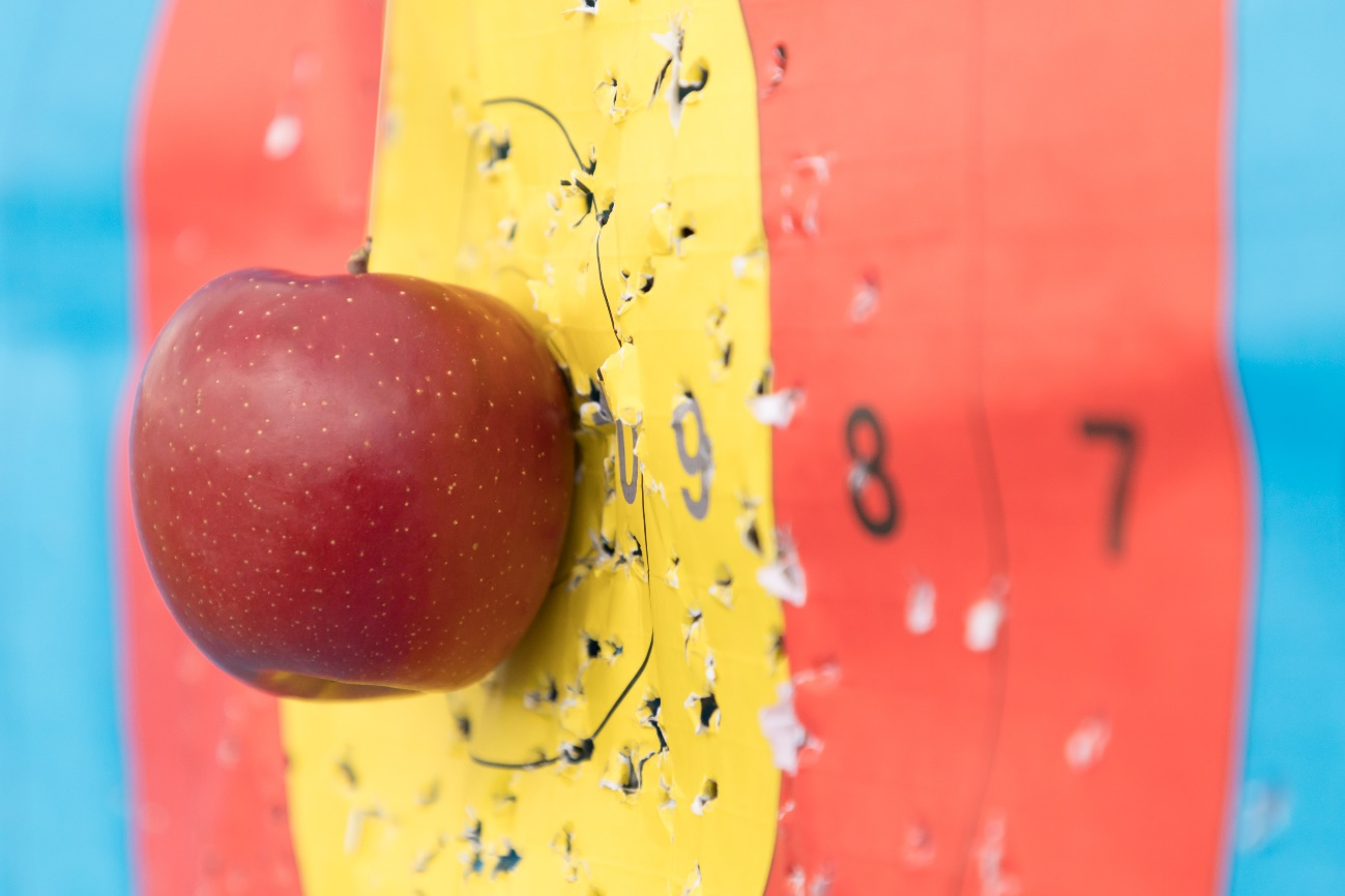 なにわのロビンフッド誕生! 70m先のりんご、さらにはドーナツの輪を射貫く、上山選手のスゴ技に密着!!